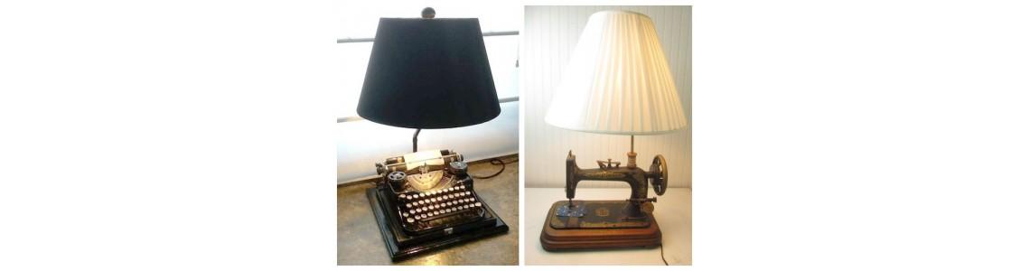 Vintage Αντικείμενα μετατρέπονται σε φωτιστικά