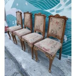 Καρέκλα τραπεζαρίας με σκαλίσματα Granny's  44453