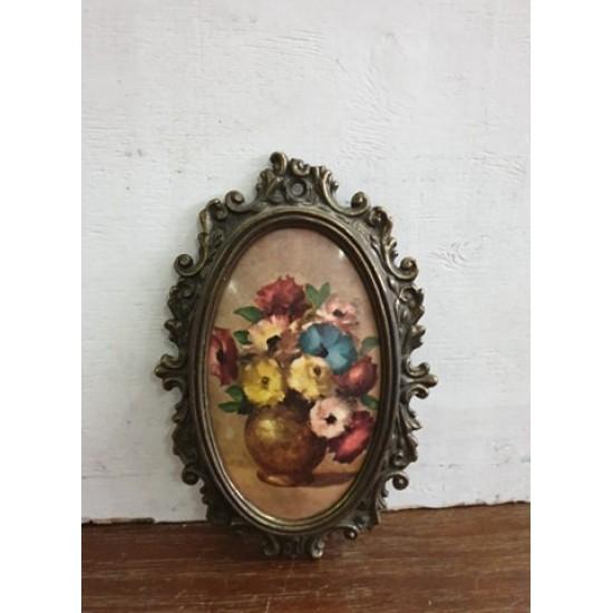 Καδράκι vintage με μεταλλική κορνίζα Granny's  59629